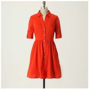 Moulinette Soeurs/Anthro 'Reed' Shirtdress in Red